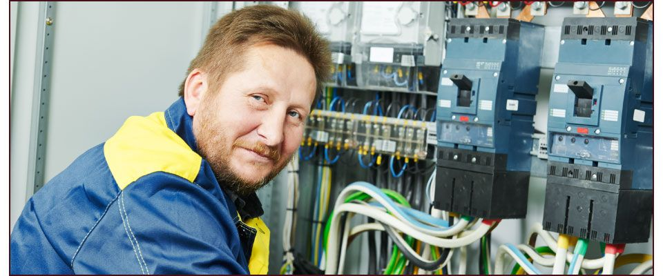 Happy Electrician Ready to Serve